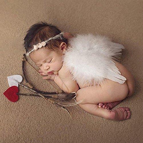 ting Kostüm Amor Engel Neugeborenen Fotografie Requisiten Mädchen Jungs (Amor Kostüm Mädchen)