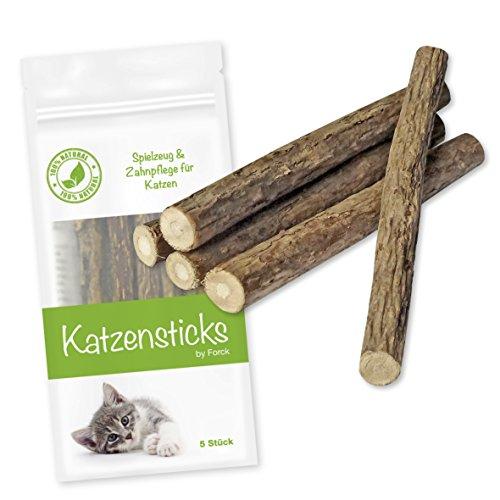 Katzenminze Katzenspielzeug 5 Sticks von Forck, unsere Kaustäbchen in naturreiner Qualität fördern den Spieltrieb, unterstützen eine natürliche Zahnpflege und helfen bei Mundgeruch und Zahnstein