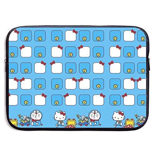 Laptop Schutzhülle Stoßfeste, weiche Tragetasche Hello Kitty mit Doraemon Notebook Tasche für 13-15 Zoll MacBook Pro/MacBook Air/Notebook Computer, 15 Zoll (Kitty Rolling Hello Luggage)