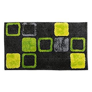 SCHÖNER WOHNEN-Kollektion, Mauritius, Badteppich, Badematte, Badvorleger, Design Box - grün, Oeko-Tex 100 zertifiziert, 70 x 120 cm