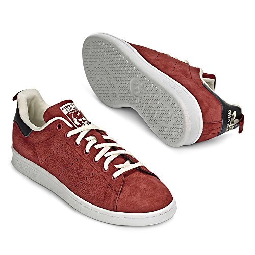 adidas Stan Smith, Low-Top Chaussures mixte adulte rouge/noir/blanc