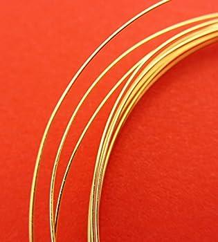 New 5ft1525mm 28 Gauge 14k Gold Filled Super Lightweight Round Wire 0