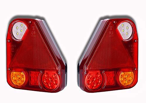 Luci posteriori a LED 12 V 24 V per rimorchio, camion, camper, trattore, caravan, pickup, auto, autobus, ATV, multi-volt, uso universale