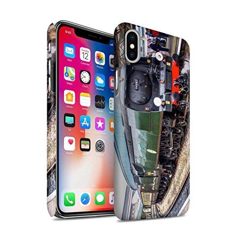 STUFF4 Matte Snap-On Hülle / Case für Apple iPhone X/10 / Scotsman/Bahnsteig Muster / Dampflokomotive Kollektion Tangmere/Bahnsteig