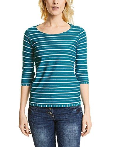 Cecil Damen Langarmshirt 311789, Türkis (Aqua Tonic Blue 31156), XX-Large (T-shirt Blue Xx-large)