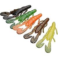 Broadroot 20pcs Soft Artificial gusano camarón señuelo de la pesca del mar tackle Jig Wobble giratorio cebo