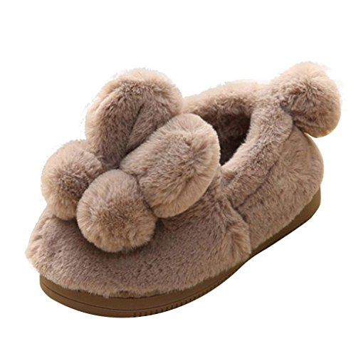 Clode® for 0-3 Years Old, Cute Toddler Newborn Baby Girls Boys Thick Fuzzy Winter Anti-Slip Hard Sole Winter Snow Booties Slipper