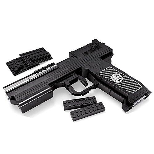 Pistole Revolver Lego (ausni 1: 1Eagle Desert Pistole Modell Kits Militär Waffe Gun Lego kompatibel Building Spielzeug mit Aufbewahrungsbox 373pcs)