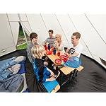 Skandika Teepee 301 Wigwam Style Indiana Tepee Tent, Sewn-In Groundsheet, 300 cm Peak Height, 3000 mm Water Column, Sand/Burgundy, 12-Person 15