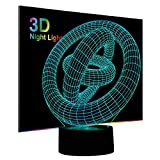 Best Gifts & Decor Glass Desks - 3D Illusion Night Light, Ring Modern LED Table Review
