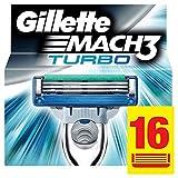 Gillette Mach3 Turbo Lames De Rasoir Pour Homme - 16Recharges