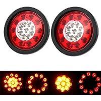 2* LED Gummiring gelb//rot 19LED Brems Stop drehen Rücklicht für LKW-Anhänger LKW