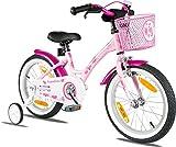 PROMETHEUS® 41cm 16ª (16 pollice) Bicicletta per Bambini Classico - Rosa & Bianco - A partire da 5 anni