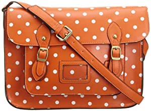 Lydc Women's Sara Vintage Satchel Orange SS01037 Large
