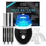 Kit professionale per lo sbiancamento dei denti con carbone attivo - Luce LED blu - Stampo dentale per l'attivazione del fascio luminoso - Stampi dentali modellabili - di Pro Teeth Whitening Co.