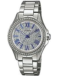 Casio Damen-Armbanduhr XS Analog Quarz Edelstahl SHE-4510D-7AUER