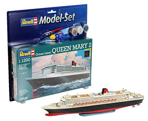 Revell 65808 - Ocean Liner Queen Mary 2 Kit di Modellismo in Plastica, Scala 1:1200
