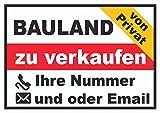 HB_Druck Bauland privat Schild A4 Rückseite selbstklebend