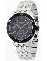 Tissot T0674172105100 - Reloj cronógrafo de caballero de cuarzo con correa de acero inoxidable plateada
