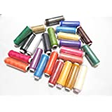 AM Polyester Muticolour Sewing Threads (24 Pcs) With Free Storage Box