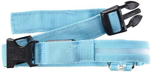 LED Halsband Light - LED Leuchtschlauch Leuchthalsband Hundehalsband Hund Blau XL