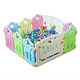 LHA Bettzubehö Spiel Zaun Indoor Baby Schutzzaun Baby Walk Crawl -115 * 115 * 60cm