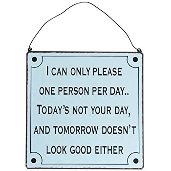Metal Wall Sign - Choice Of Design ( Please One Person )
