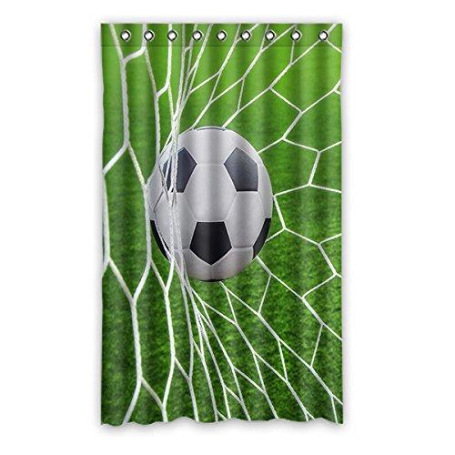 Personalizzato soccer calcio tenda di finestra window curtain luce prova poliestere fabbrica per camera da letto o soggiorno 132zentimeters x 213zentimeters (un pezzo), d, 52(inches)x84(inches)
