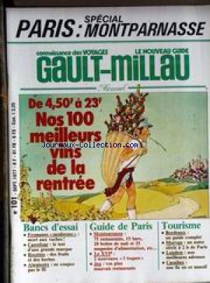 [EPUB] Gault millau [no 101] du 01/09/1977 - paris - special montparnasse - vins de la rentree - fromage modernes - carrefour - recettes - aiguisoirs - le xvieme - bordeaux - morvan - londres - caraibes.