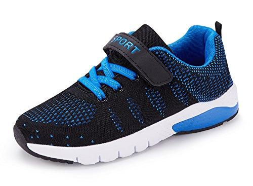 MAYZERO Unisex-Kinder Sneakers Laufen Schuhe Sportschuhe Sneakers Jungen Mädchen Low-Top Sneakers (37 EU,Blau)