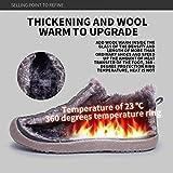 SAGUARO Herren Damen Winterschuhe Warm Gefütterte Boots Stiefelette Outdoor Waterproof Schneestiefel,Low Top Blau,40 EU - 3