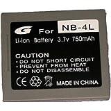 Bilora GPI 603 Batterie lithium-ion pour Canon NB-4L