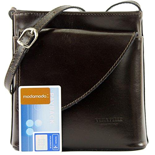 Borsa borsa a tracolla linea donna italiana borsa a tracolla piccola borsa D1 Dark Chocolate