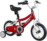 Moma Bikes Infantil 12' Bicicleta con ruedines incluidos, Rojo, Unic Size