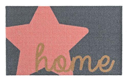 Fußmatte Deko, für Außen und Innen geeignet, waschbar per Hand bei 30 C°, in 6 Muster erhältlich (Rosa)