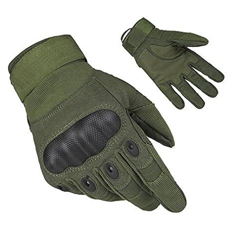 [] adogo Gants de vélo complet doigt gants de travail veste de cyclisme gants gants d'équitation XL vert militaire
