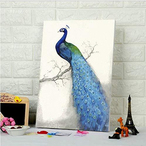 älde Durch Zahlen Pfau Digitale Farbe Durch Zahlen Wohnkultur Für Schlafzimmer Wohnzimmer DIY Digitale Malerei ()