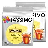 Tassimo Twinings Earl Grey Té, Paquete de 2, 2 x 16 T-Discs