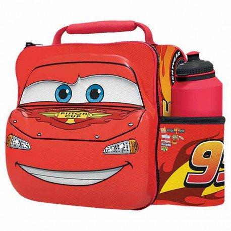 Disney pixar cars - borsa termica per pranzo 3d con bottiglia