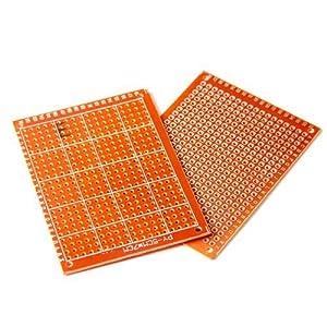 20pcs Soldadura Terminado PCB Prototipo para Placas Circuito DIY 5x7cm
