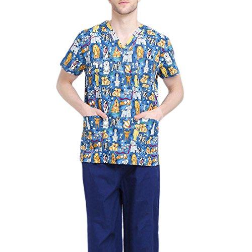 Jiyaru Uniforme Médico Ropa Enfermera Manga Corta