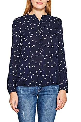 ESPRIT Damen Bluse 087EE1F021 Mehrfarbig (Navy 400), 34