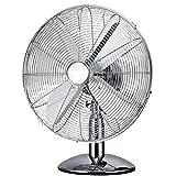 "Oypla Electrical 12"" Inch Chrome Metal 3 Speed Desk Fan Oscillating"