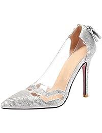 AicciAizzi Damen Elegant Spitze Zehe Summer Shoes Party Heels