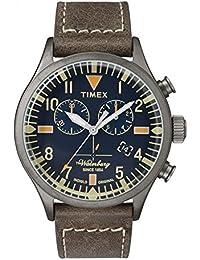 Timex Herren Armbanduhr Chronograph Quarz Leder TW2P84100