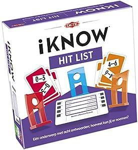 Tactic iKNOW Hit List Niños Juegos de Preguntas - Juego de Tablero (Juegos de Preguntas, Niños, 30 min, 12 año(s), 300 Pieza(s), Interior)