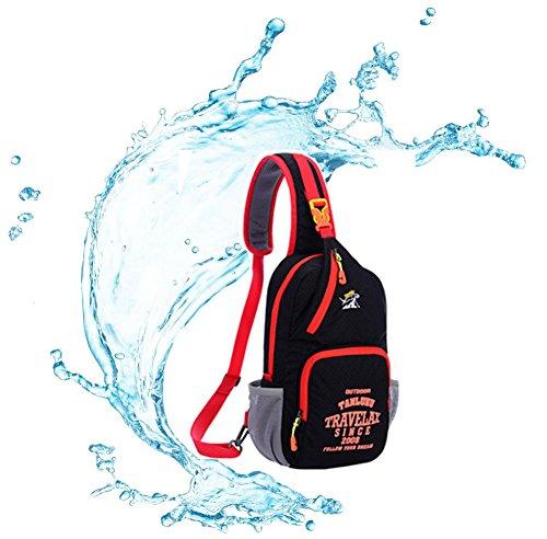 Fashion Graffiti petto borsa a tracolla borsa a tracolla per lo sport outdoor escursionismo arrampicata ciclismo palestra–Tanluhu multiuso, tempo libero, Purple Pure Black
