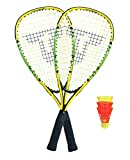 Talbot-Torro Speed-Badminton Set Speed 4000, 2 handliche Alu-Rackets 54,5cm, 3 windstabile Federbälle, im 3/4 Bag, 490104