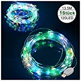 Mr.Twinklelight led lichterkette, 12m 120 LEDs Wasserdicht, IP65, 8 Modi USB kupferdraht lichterkette aus Kupferdraht für Weihnachtsdeko, Hochzeit, Schlafzimmer, Häuser, Party