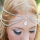 Jovono - Diadema bohemia para mujer, accesorio para el pelo, diseño de cabeza simple